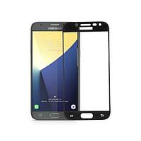 Захисне скло Samsung Galaxy J730 J7 2017 5D прозоре (чорне) Optima