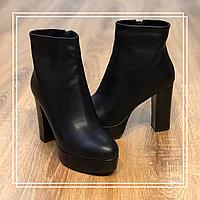 Женские зимние ботинки кожа, фото 1