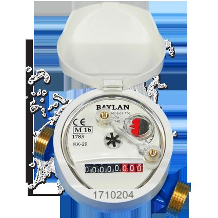 Счетчик холодной воды BAYLAN КК-12 Турция, без сгонов 2020г