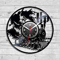 Виниловые часы Гарри Поттер Волшебные существа Дементоры на часах Круглые часы Часы на стену в детскую комнату