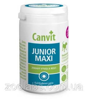Витамины для молодых собак и щенков Canvit Junior Maxi (76 шт)