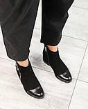 Ботинки женские со змейкй черные, фото 2