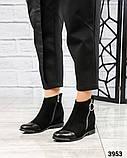 Ботинки женские со змейкй черные, фото 3