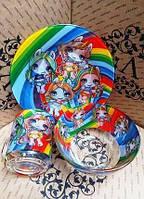 Набор детской посуды Лол Пупсы