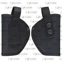 Кобура поясная для Форт-17 синтетическая  (Cordura 1000, черная)
