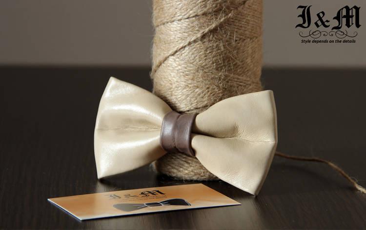 Кожаная галстук-бабочка I&M (010801), фото 2
