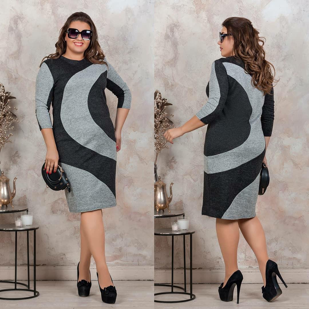 Женское силуэтное ангоровое платье 46-48, 50-52, 54-56, 58-60