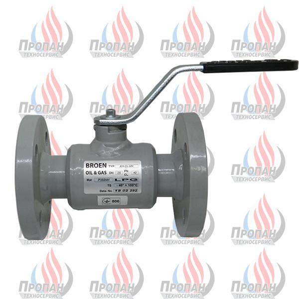 Кран кульовий фланцевий BROEN (Zawgaz) АН-2с-МК, DN 25 PN 40 для зрідженого газу