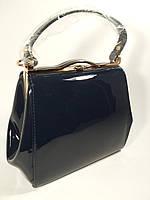 Лаковая темно- синяя сумочка в наличии, тренд года, расцветки
