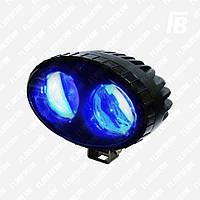 Фонарь FB-WL10O сигн. LED для погрузчика, 10 Вт, овальный, Cree (синий)