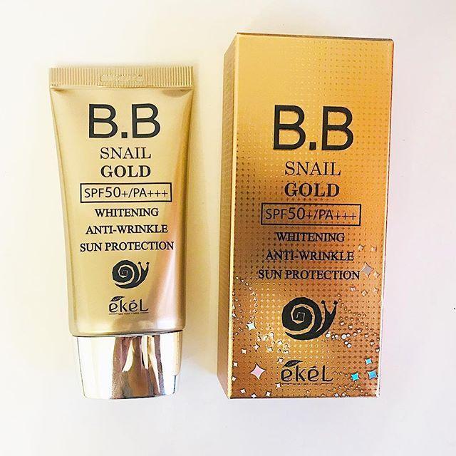 Антивозрастной BB крем на основе улитки BB Snail Gold SPF 50/PA+++ Ekel, 50ml