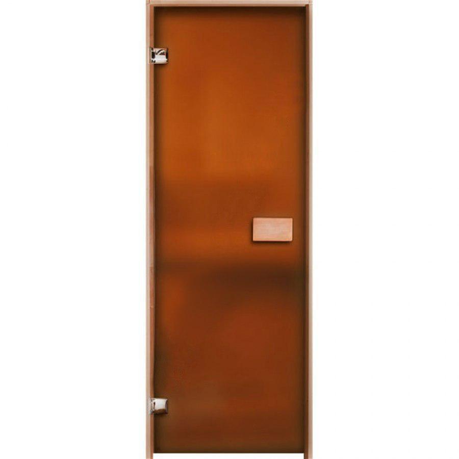 Двери для сауны матовые Бронза 80х200