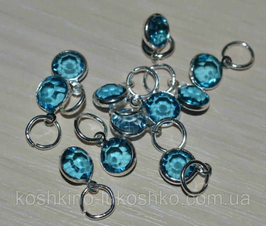 Підвіска з блакитним кристалом