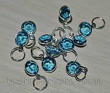 Подвеска с  голубым кристалом
