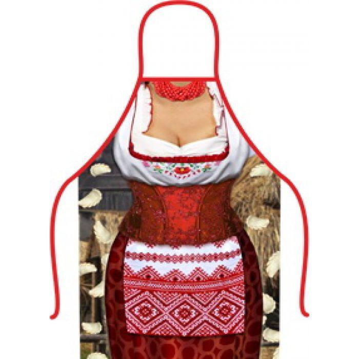 Фартук прикольный Домохозяйка, 50х70 см, Плотный габардин, 1870