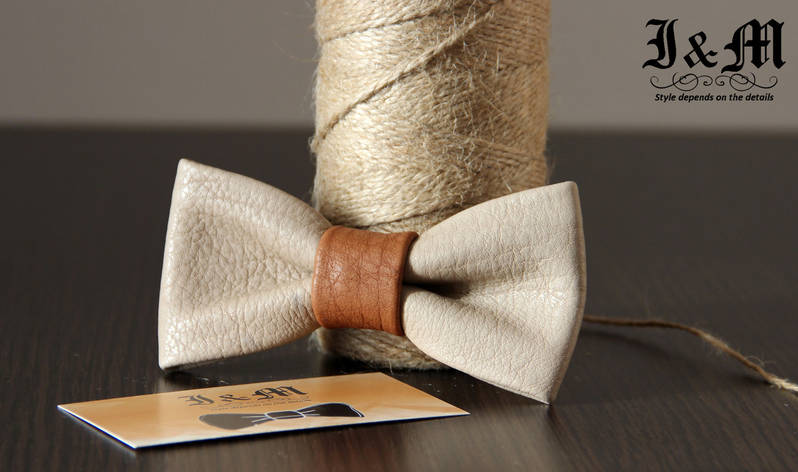 Кожаная галстук-бабочка I&M (010802), фото 2