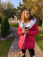 Женская двухсторонняя курточка на кнопках норма и батал в разных цветах, фото 1