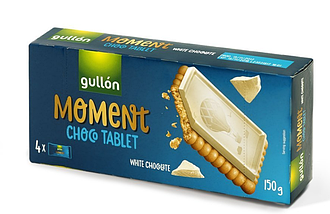 Печеньe Gullon Moment Choco Tablet White Chocolate 150 g