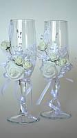Свадебные бокалы. Белые., фото 1