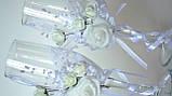 Свадебные бокалы. Белые., фото 3