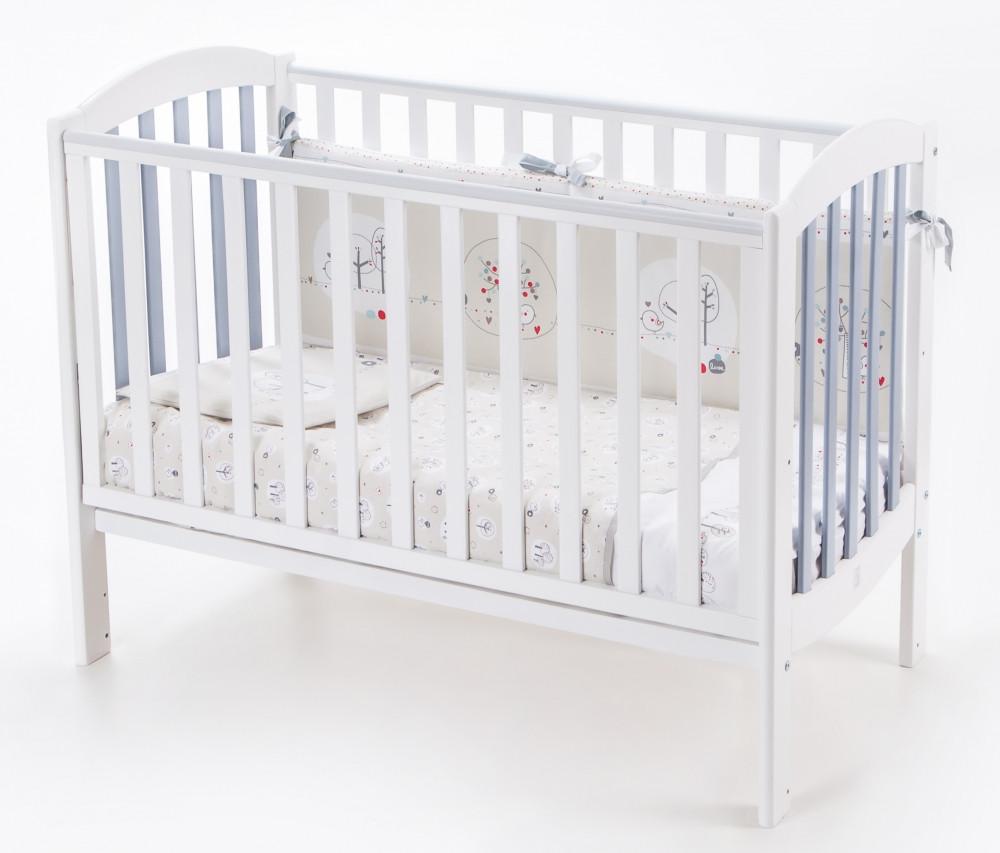 Кроватка Veres Соня ЛД10 бело-серая