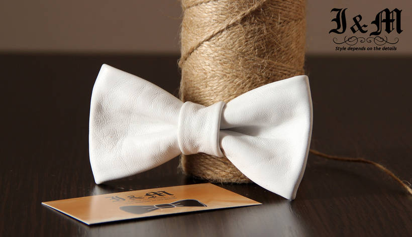 Кожаная галстук-бабочка I&M (010803), фото 2