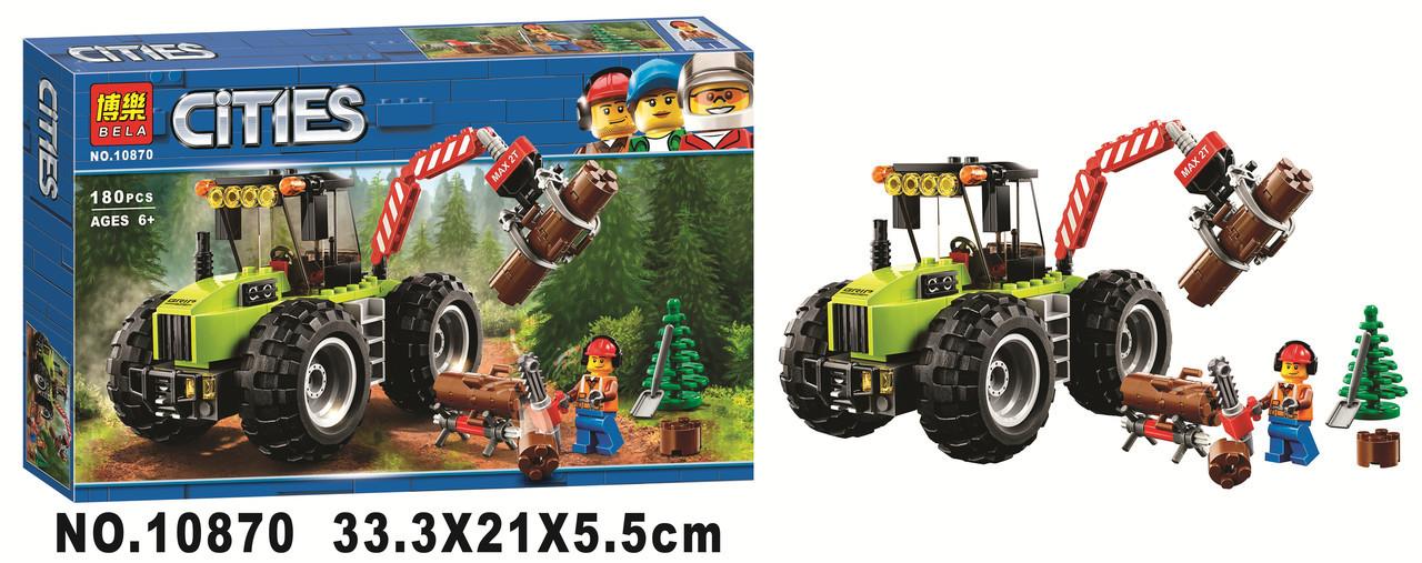 """Конструктор Bela Cities 10870 """"Лесной трактор"""", 180 деталей"""