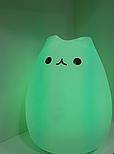 Силиконовый сенсорный LED светильник-ночник Котик, фото 3