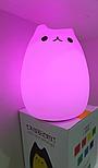 Силиконовый сенсорный LED светильник-ночник Котик, фото 4