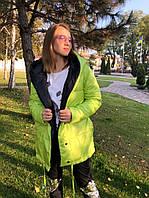 Женская двухсторонняя куртка на кнопках норма и батал. Разные расцветки, фото 1