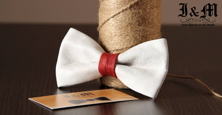 Кожаная галстук-бабочка I&M (010804), фото 2