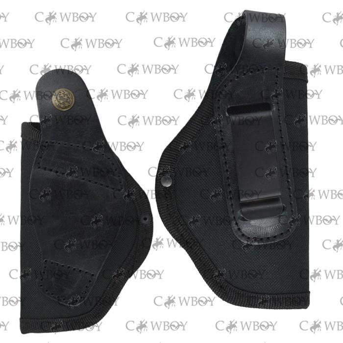 Кобура поясная Форт-12 с клипсой (Cordura 1000D+кожа, черная)