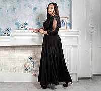 Длинное нарядное женское платье из микровельвета