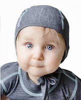 Термошапочка детская чепчик из шерсти Norveg Soft серый меланж