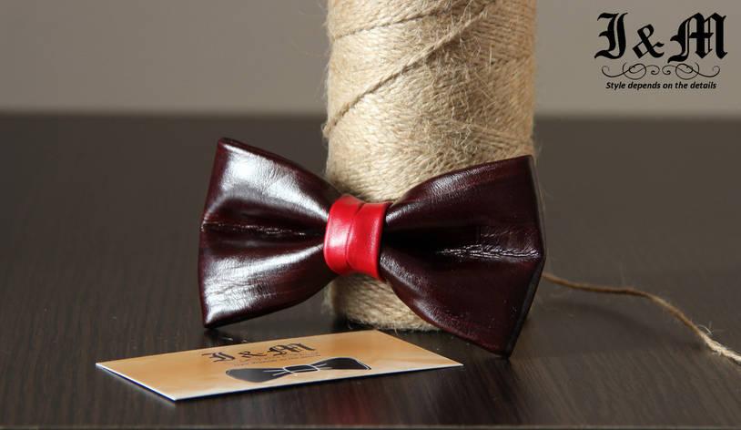 Кожаная галстук-бабочка I&M (010805), фото 2