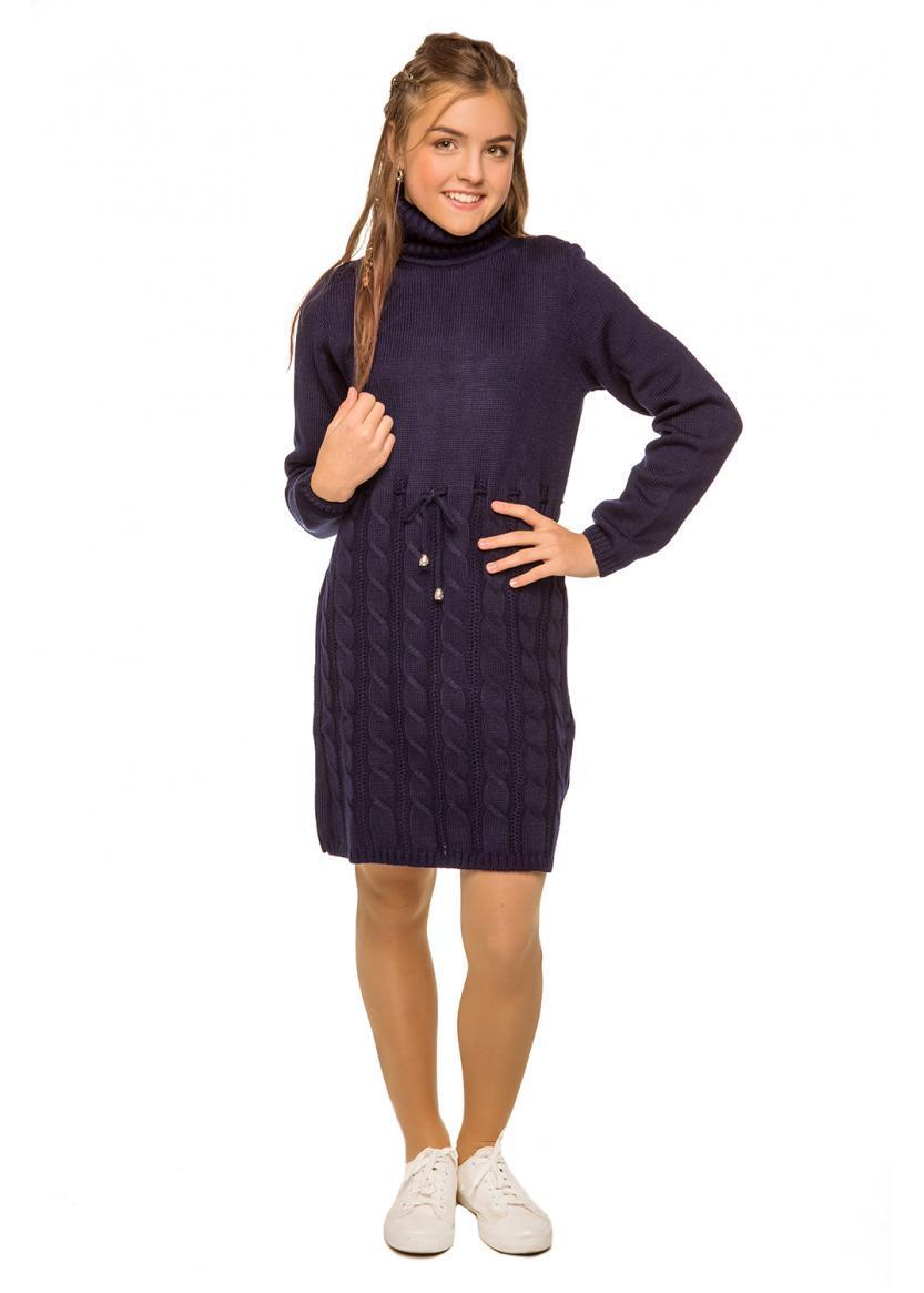 Платье-свитер теплое для девочки.