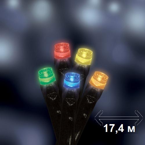 Гирлянда новогодняя мультицветная Luca Lighting 17,4 м (для дома и улицы)
