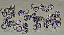 Подвеска с   фиолетовым кристаллом