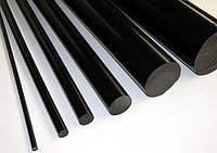 Полиацеталь РОМ-С чёрный, стержень 70 мм