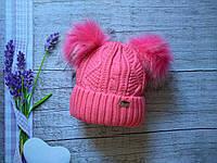 Детская зимняя шапка на девочку 46-50