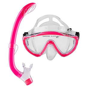 Набор для плавания подростковый маска с трубкой Dolvor M171P+SN59P розовый