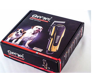 Беспроводная аккумуляторная машинка для стрижки волос шерсти животных GEMEI PRO GM-6063