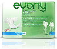 Подгузники для взрослых Evony 2  80-130см Medium 30 шт