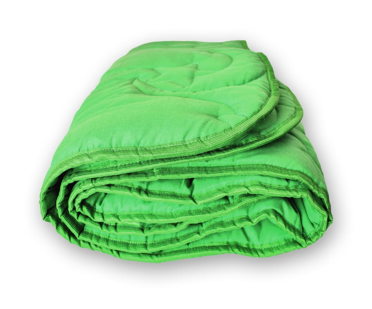 Одеяло стеганое зимнее QSLEEP полуторное Евро 155*215 см зеленое