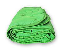 Одеяло стеганое зимнее QSLEEP полуторное Евро 155*215 см зеленое, фото 1