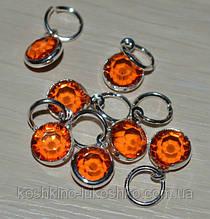 Подвеска с  оранжевым кристаллом