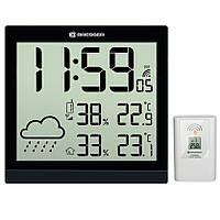 Метеостанция для дома Bresser TemeoTrend JC с часами и выносным датчиком black, фото 1