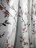 """Тюль на батисте с печатью """"Цветы"""" на метраж и опт высота 2.8 м, фото 2"""