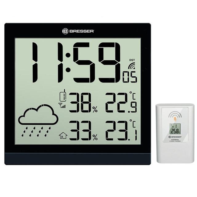 Метеостанция для дома Bresser TemeoTrend JC с часами и выносным датчиком black