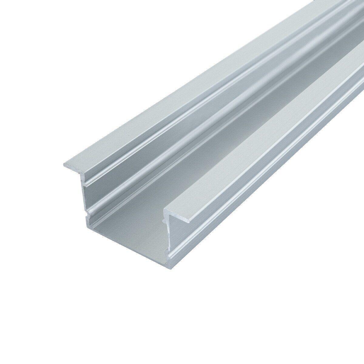 Профиль алюминиевый врезной ЛПВ20 20х30 Biom (комплект профиль+линза), 2м